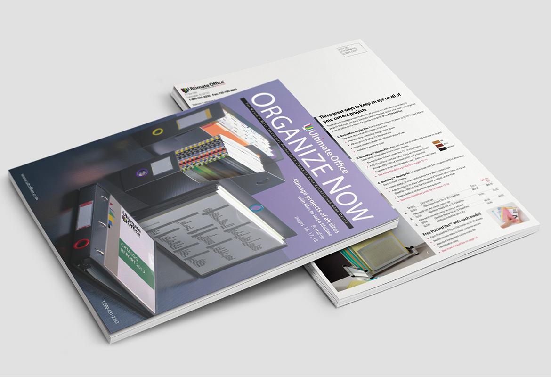 best visual identity ultimate office catalog design redesigned catalog for a high end. Black Bedroom Furniture Sets. Home Design Ideas